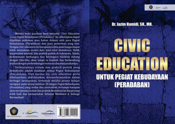 CV Nuswantara; Civic Education; Untuk Pegiat Kebudayaan; Pegiat Kebudayaan; Peradaban; Dr. Jazim Hamidi; 2016